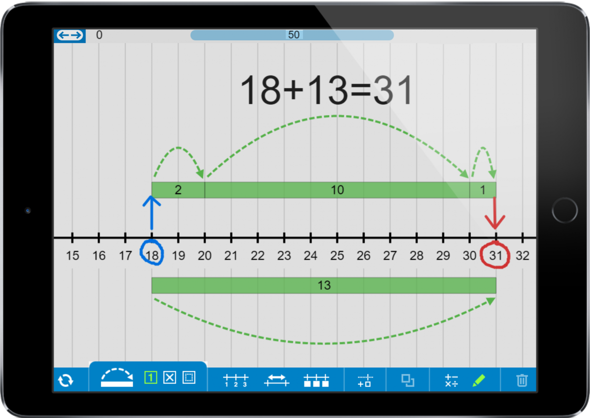 Example use of the Number Line apps