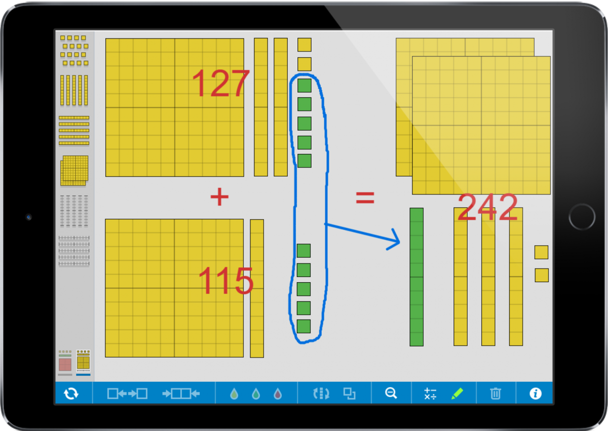 Example use of the Number Pieces app