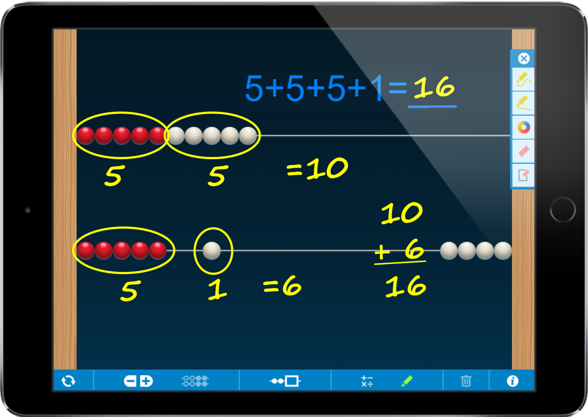 Example use of the Number Rack app