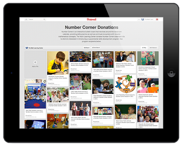 Number Corner Donation Program | The Math Learning Center