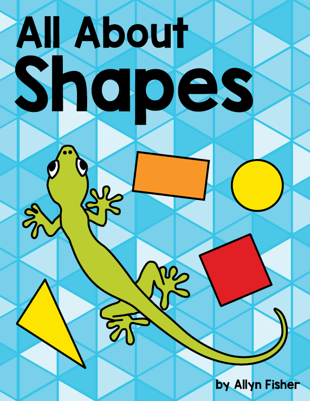 Book cover illustration of a lizzard surrounded by colorful shapes