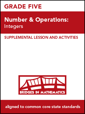 Lessons & Activities, Grade 5 | The Math Learning Center